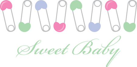 diaper pin: This is a sweet blanket embellishment.  Stitch onto a gift blankie for that new little one.  Perfect for boys or girls