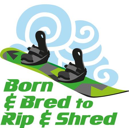 bred: salir de su tabla de snowboard y aseg�rese de que el primer d�a de la temporada es buena poniendo su ropa de invierno Vectores