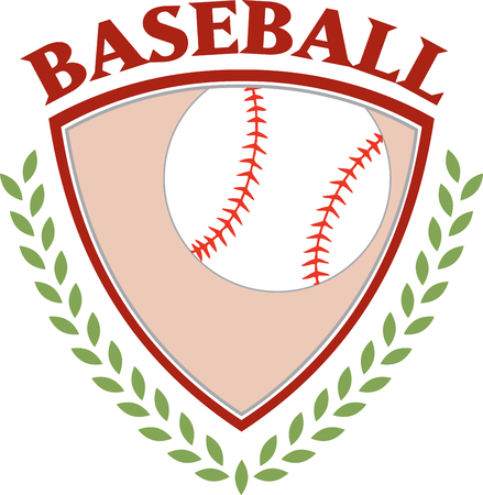 This is a classy emblem for sports apparel or bags.  Stitch this lovely  baseball emblem to support your sport hero.