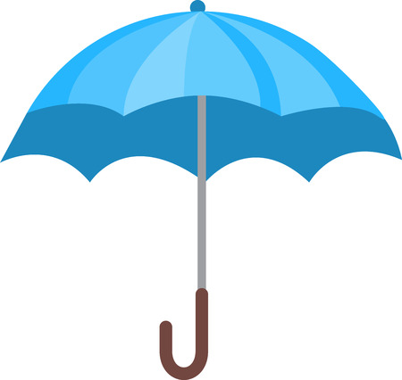 safeguarding: Keep dry under this pretty little umbrella.  It would be great stitched onto rainwear  add a name for a special touch