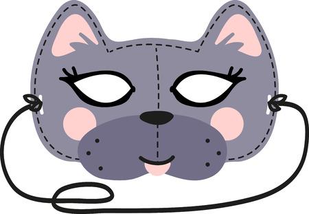 Ce masque de chat amusant est parfait pour les enfants à faire pour Halloween. Vecteurs