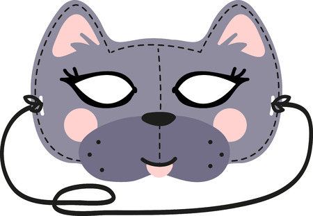 This fun Cat Mask is perfect for children to make for Halloween. Stock fotó - 41569251