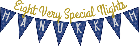 nights: Use this Hanukkah banner design for your holiday project. Illustration