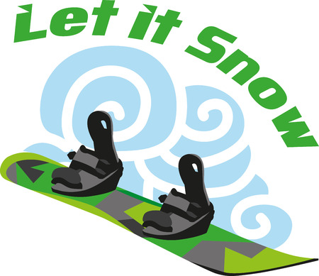 get out your snowboard and ensure that your first day of the season is a good one by putting your winter gear Ilustrace