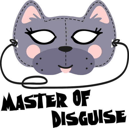 This fun Cat Mask is perfect for children to make for Halloween. Illustration