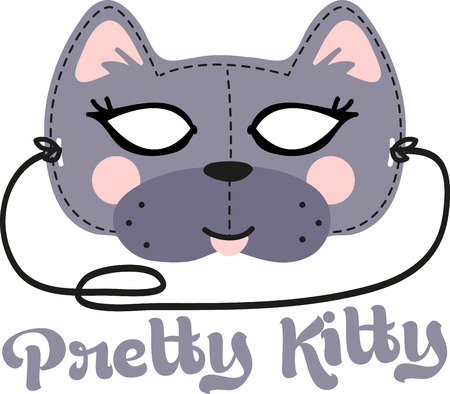 This fun Cat Mask is perfect for children to make for Halloween. Ilustração