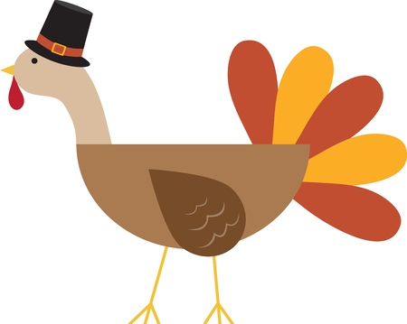 This adorable pilgrim turkey will be a cute addition to you holidays this year.