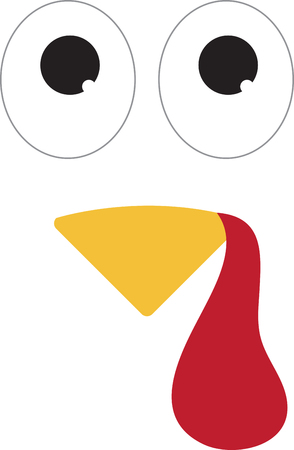 This turkey face would look adorable on a brown baby bib. Perfect for your little turkey