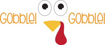 perfect face: This turkey face would look adorable on a brown baby bib. Perfect for your little turkey