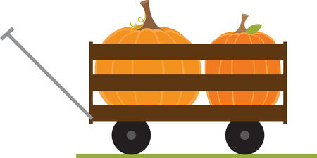 What a fun wagon for your pumpkin patch project