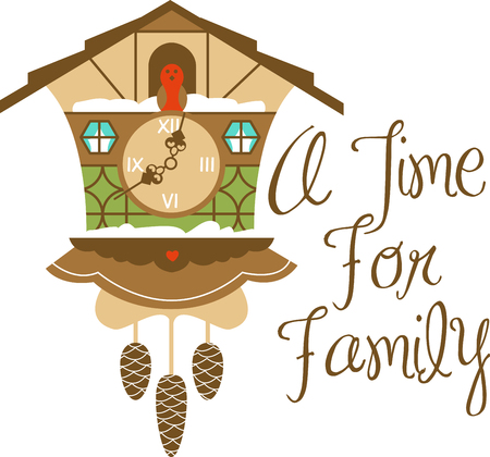 cuckoo clock: This folk clock with lots of character will bright Count Your Blessings   any day with this design by embroidery patterns.
