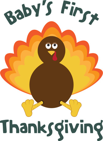 Dont forget baby this Thanksgiving with this cute turkey design.
