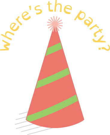 party hat: Whats a party without hats  This is such a sweet little party hat.  Perfect for birthday decorations and shirts!