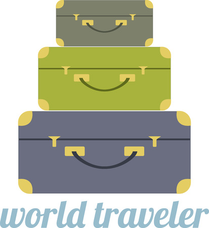 Going on a trip or maybe you are a travel professional  This is a great design for your bags or shirts! Ilustrace