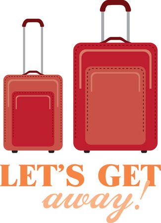 away travel: Going on a trip or maybe you are a travel professional  This is a great design for your bags or shirts! Illustration
