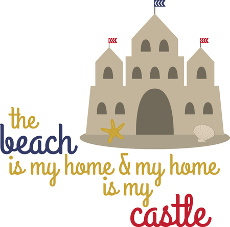 sand castles bring a magical touch to your special eventenjoy with this design by embroidery patterns.