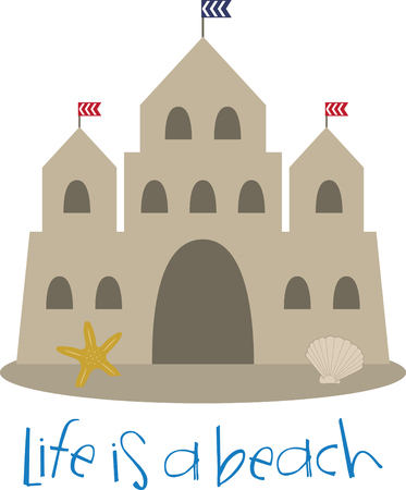 chateau: sand castles bring a magical touch to your special eventenjoy with this design by embroidery patterns.