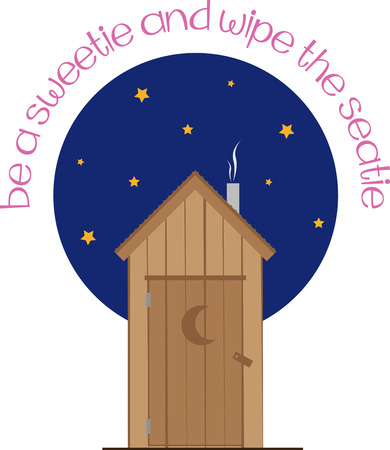 Pick this wide range of nighttime outhouse design by embroidery patterns. Stock Vector - 41764767
