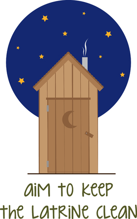 outhouse: Pick this wide range of nighttime outhouse design by embroidery patterns. Illustration