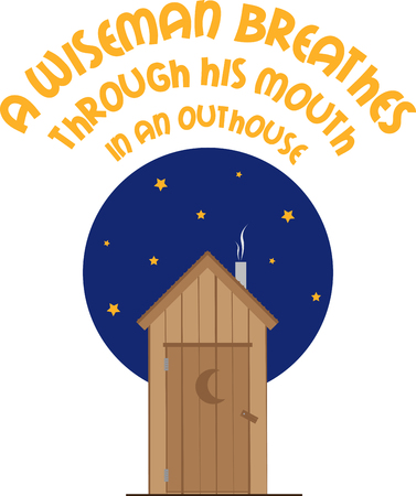 loo: Pick this wide range of nighttime outhouse design by embroidery patterns. Illustration