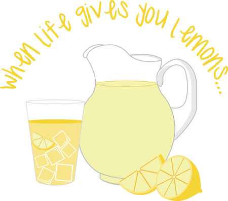quenching: Get this quenching design on your summer projects.  Will be perfect on napkins tablecloths and more Illustration