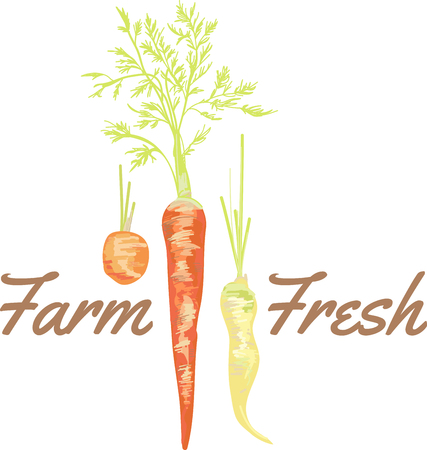 Groenten zijn een must op een dieet suggereren carrot cake Stock Illustratie