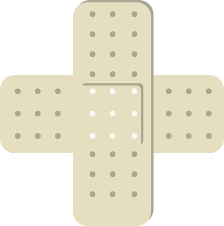 Bandage is fillet or strip of woven material used in dressing and binding up wounds. 向量圖像