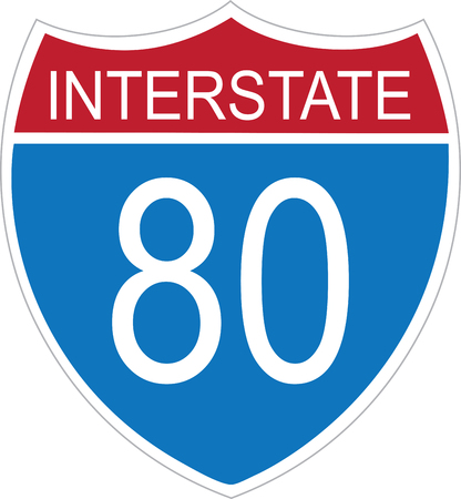 autobahn: pick the wide range of interstate sign design by embroidery patterns. Illustration