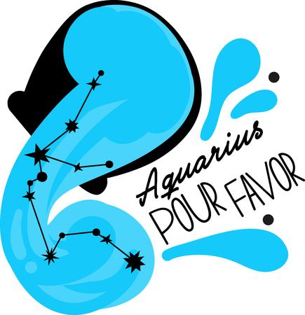 Aquarius stars can be seen in northern hemisphere Banco de Imagens - 42252469