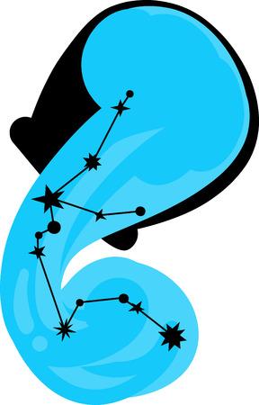 water bearer: Aquarius stars can be seen in northern hemisphere