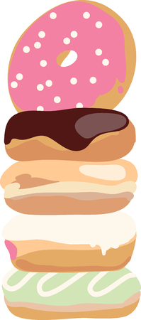 Use this fun design to show off your love for donuts. Illustration