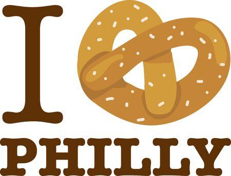 心のこのユニークなひねりとフィラデルフィアのあなたの愛を表示します。 バッグやアパレルにそれをステッチします。