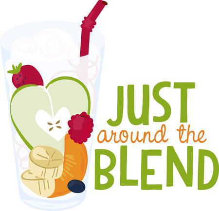 건강한 과일의 사랑스런 한 잔은 당신의 자수 프로젝트에 눈길을 끄는 요소를 추가합니다. 스톡 콘텐츠 - 42252870