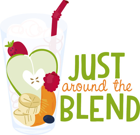adds: A lovely glass of healthy fruit adds an eye catching element to your embroidery projects.
