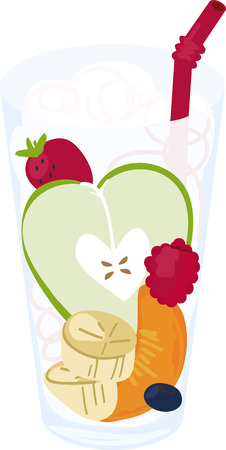 A lovely glass of healthy fruit adds an eye catching element to your embroidery projects.