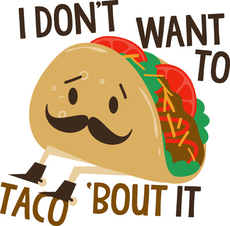 warmer: Yummy tacos for dinner are a favorite,  Stitch this detailed taco design onto a cloth line for your taco warmer for a special decoration.