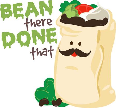 Hier is een zak van bonen met alle bevestigingen en specerijen inbegrepen. Dit is leuk om te borduren op uw Mexicaanse Night placemats.