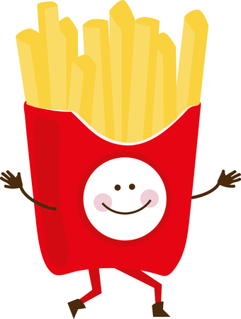 here's: Care for some fries with that  Heres the happiest fries we have ever seen!  Add them to your food related projects and add a smile!
