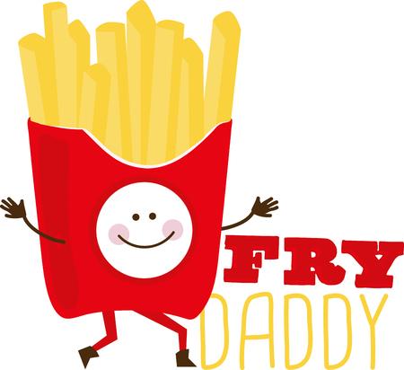 Cura per alcuni le patatine Ecco le patatine più felici che abbiamo mai visto! Li Aggiungi ai tuoi progetti legati all'alimentazione e aggiungere un sorriso! Archivio Fotografico - 42253349