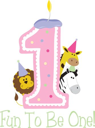 1: A perfect zoo design for a first birthday baby.
