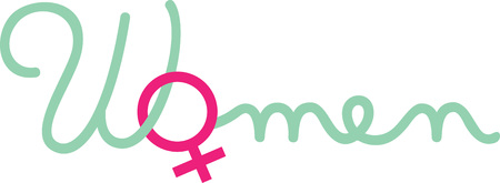 Celebrate Womens Day with this female symbol design.