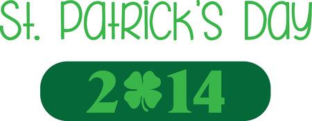 Saint Patricks Day decorative shamrock saying for your holiday designs. Illustration