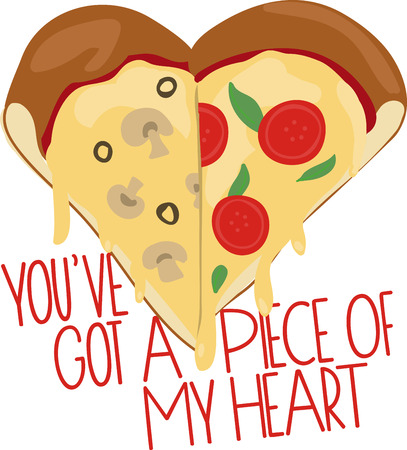 Do you love pizza Heres a design where slices make a heart.