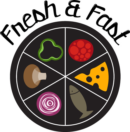 entrees: A food wheel for the pizza chef. Choose your ingredient and order it to go.