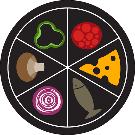A food wheel for the pizza chef. Choose your ingredient and order it to go.