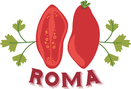 roma: Roma tomatoes are a favorite for Italian cooking.