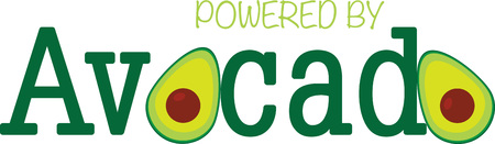 Avacado design for kitchen decorating and cooking hobbyists.
