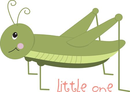 Cute green grasshopper for children's items and projects. Фото со стока - 42253607