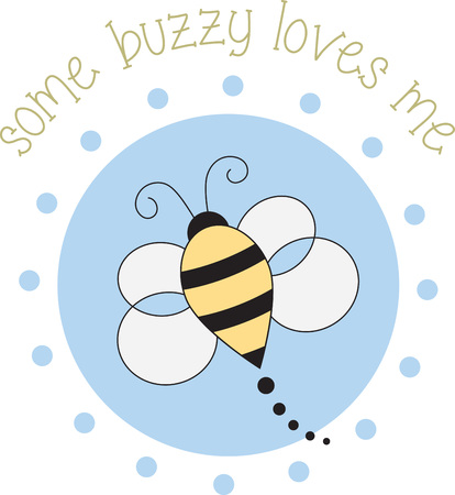 buzzing: Cute buzzing bee for childrens items and projects. Illustration