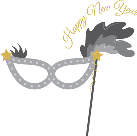 masque: Decorative party masque for New Years celebrations. Illustration